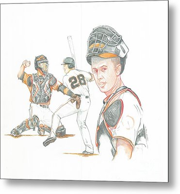 The New Natural Buster Posey Metal Print by Phil  King