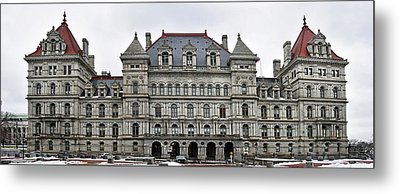 Metal Print featuring the photograph The New York State Capitol In Albany New York by Brendan Reals