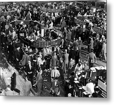 The New York Stock Exchange, New York Metal Print