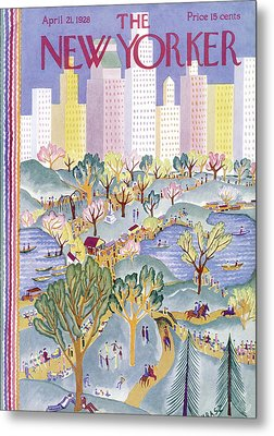The New Yorker Cover - April 21st, 1928 Metal Print by Conde Nast