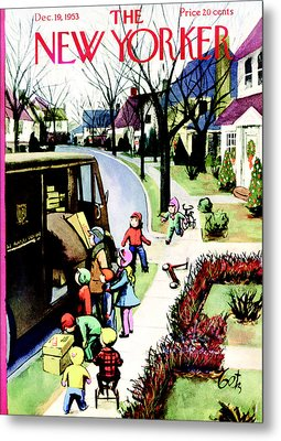 The New Yorker Cover - December 19th, 1953 Metal Print by Conde Nast