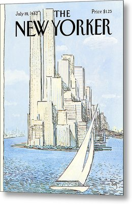 The New Yorker Cover - July 19th, 1982 Metal Print