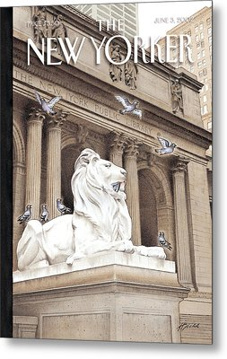 The New Yorker Cover - June 3rd, 2002 Metal Print