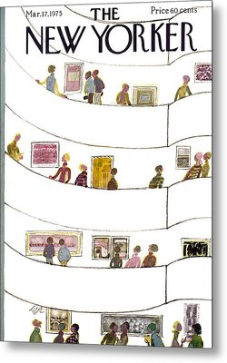 The New Yorker Cover - March 17th, 1975 Metal Print