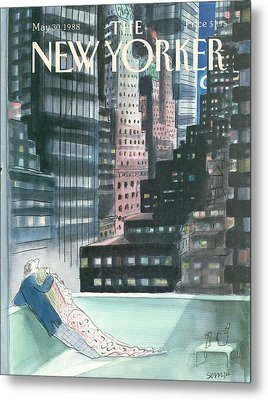 The New Yorker Cover - May 30th, 1988 Metal Print