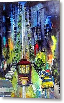 The Night Life Metal Print