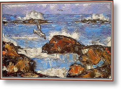 Metal Print featuring the painting The Noise Of The Waves 3 by Pemaro