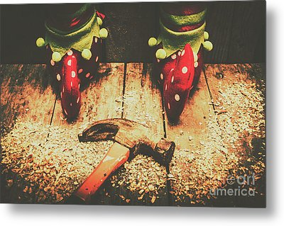 The North Pole Toy Factory Metal Print