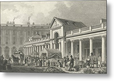 The North West Facade Of The New Covent Garden Market Metal Print by Thomas Hosmer Shepherd