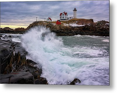 Metal Print featuring the photograph The Nubble After A Storm by Rick Berk