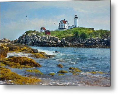 The Nubble Lighthouse Metal Print by Lori Deiter