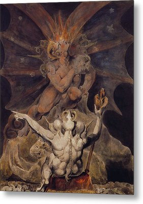 The Number Of The Beast Is 666 Metal Print by William Blake