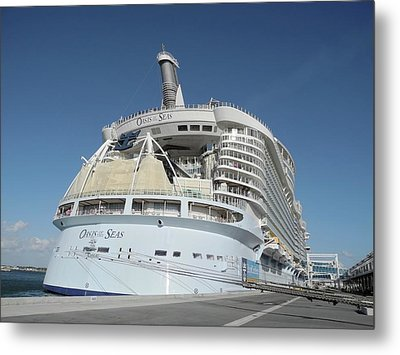 Metal Print featuring the photograph The Oasis Of The Seas At Port Canaveral by Bradford Martin