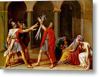 The Oath Of The Horatii Metal Print