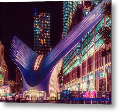 The Occulus At Midnight Metal Print by Chris Lord