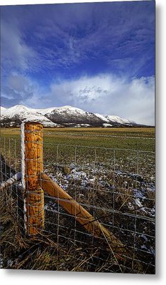 Metal Print featuring the photograph The Ochils In Winter by Jeremy Lavender Photography