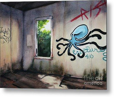 The Octopus's Garden Metal Print