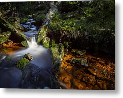 the Oder in the Harz National Park Metal Print by Andreas Levi