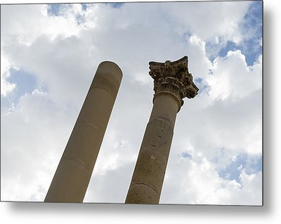 The Old And The New - Columns At The Open Air Theatre Valletta Malta Metal Print by Georgia Mizuleva