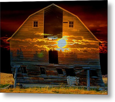 The Old Barn Metal Print by Stuart Turnbull
