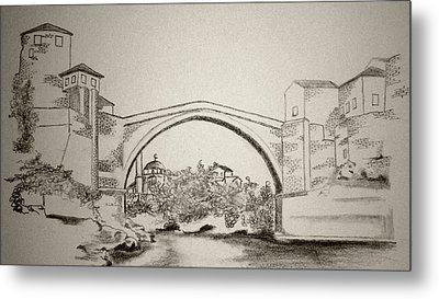 The Old Bridge In Mostar Metal Print by Ramo Sabanovic