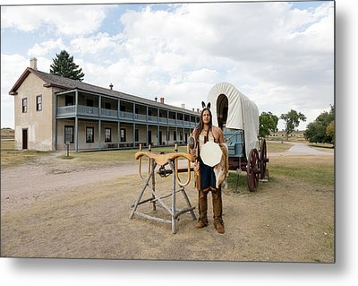 The Old Cavalry Barracks At Fort Laramie National Historic Site Metal Print by Carol M Highsmith