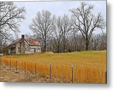 Metal Print featuring the photograph The Old Country Home by Ron Dubin