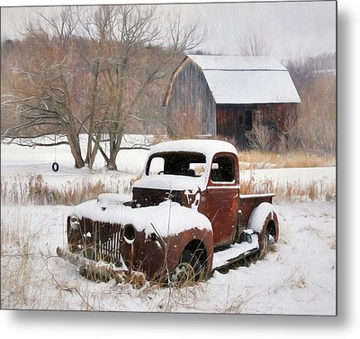 The Old Lawn Ornament Metal Print by Lori Deiter