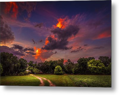 The Old Country Road Metal Print by Marvin Spates