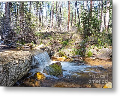 Metal Print featuring the photograph The Old Creek Falls by Anthony Citro