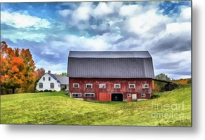 The Old Dairy Barn Etna New Hampshire Metal Print by Edward Fielding