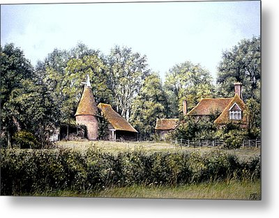 Metal Print featuring the painting The Old Farm by Rosemary Colyer