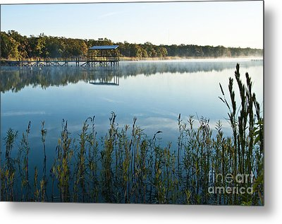 Metal Print featuring the photograph The Old Fishing Pier by Tamyra Ayles