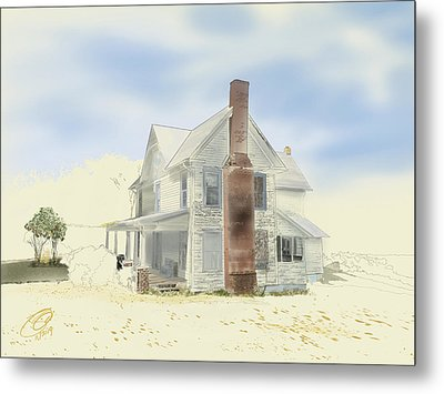 Metal Print featuring the painting The Home Place - Silent Eyes by Joel Deutsch