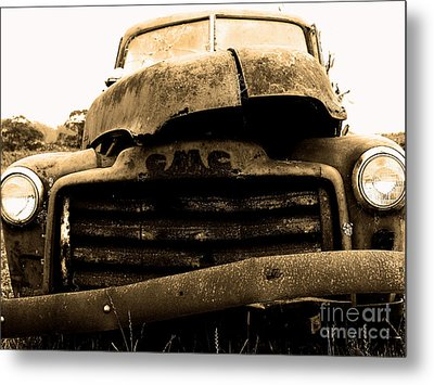 The Old Jalopy . 7d8396 Metal Print by Wingsdomain Art and Photography