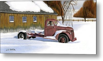 The Old Jalopy Metal Print