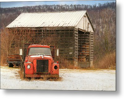 Metal Print featuring the photograph The Old Lumber Truck by Lori Deiter