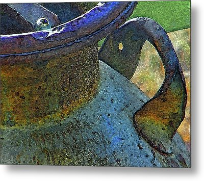 The Old Milk Can Metal Print