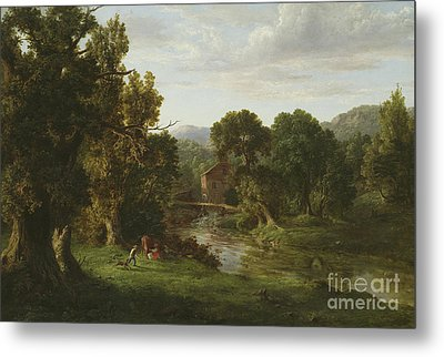 The Old Mill Metal Print by George Inness