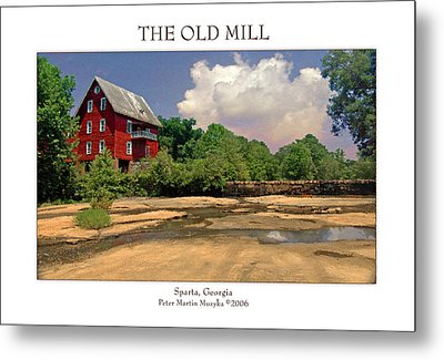 The Old Mill Metal Print by Peter Muzyka