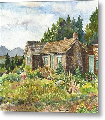 The Old Moore House At Caribou Ranch Metal Print