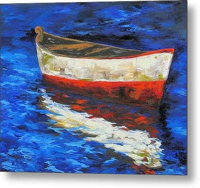 The Old Red Boat II  Metal Print by Torrie Smiley