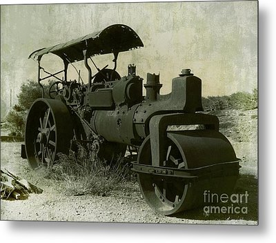 The Old Steam Roller Metal Print by Christo Christov