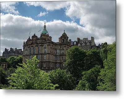 Metal Print featuring the photograph The Old Town In Edinburgh by Jeremy Lavender Photography