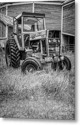 The Old Tractor By The Old Round Barn II Metal Print