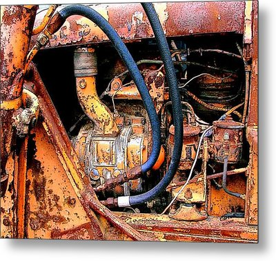 The Old Tractor  Metal Print by Linda Carroll