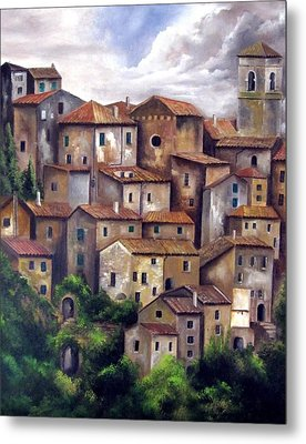 The Old Village Metal Print by Katia Aho