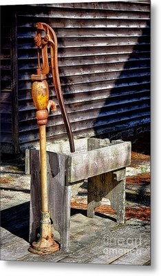 The Old Water Pump Metal Print by Olivier Le Queinec