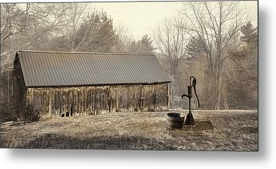 Metal Print featuring the photograph The Old Well Pump by Robin-Lee Vieira