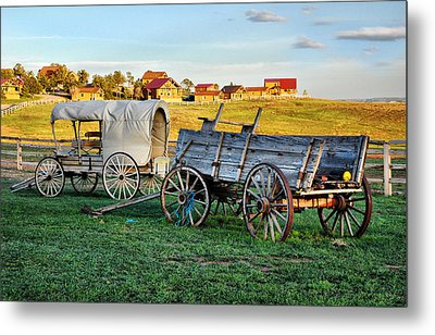 Metal Print featuring the photograph The Old West by Barbara Manis